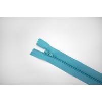"""Молния пластиковая спиральная неразъёмная однозамковая """"BLITZ"""" бирюзово-голубая 18 см E13 15092119"""