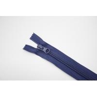 """Молния пластиковая спиральная неразъёмная однозамковая """"BLITZ"""" пыльно-синяя 20 см E13 15092122"""