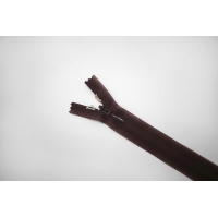 Молния темно-коричневая потайная с фиксатором 18 см YKK G19 17092122