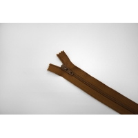 Молния спиральная брючная неразъёмная желтовато-коричневая 18 см YKK G20 21092106