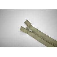 Молния спиральная брючная неразъёмная блекло-оливковая 18 см YKK G20 21092114
