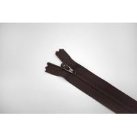 Молния спиральная брючная неразъёмная темно-коричневая 12 см YKK G20 21092123