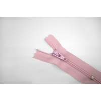 Молния спиральная брючная неразъёмная нежно-розовая 6 см YKK G20 21092127