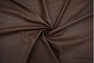 Экокожа на вискозе темно-коричневая NST-F50 07102101