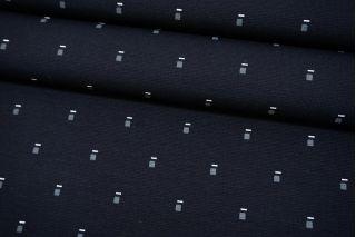 Джерси вискозный темно-синий в мелкий квадрат NST 07102136