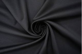 Тонкая костюмно-плательная шерсть с шелком черно-серая BRS-CC40 07102150