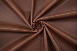 Экокожа на замше шоколадно-коричневая BRS-F30 08102107