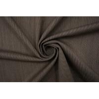 Тонкая костюмно-плательная шерсть с шелком коричневая BRS 08102116