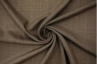 Тонкая костюмно-плательная шерсть с шелком в клетку коричневая BRS-CC60 08102119