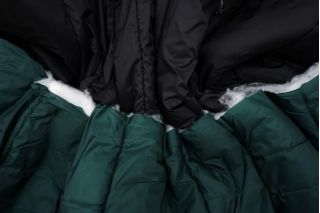 Курточная стежка двусторонняя черно-зеленая BRS 08102127