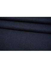 Джерси шерстяной черно-синий в елочку Donna Karan NST-W30 09102101