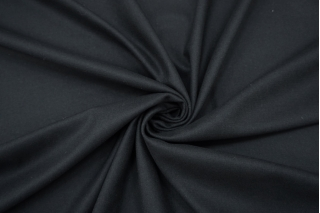 Костюмная шерстяная фланель тонкая темно-серая NST 09102105