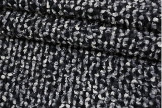 Трикотаж-букле черно-серый NST-W20 09102111