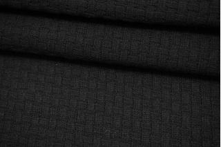 Трикотаж вязаный на неопрене черный NST 09102113