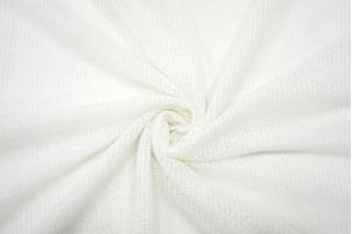 Трикотаж шерстяной ажурный бело-молочный NST-Y10 09102122