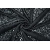 Трикотаж шерстяной ажурный черный NST-Y10 09102123