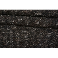 Трикотаж-букле черно-коричневый с люрексом NST-X10 09102126