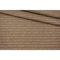ОТРЕЗ 1,7 М Трикотаж вязаный в полоску серо-бежевый NST-(23)-09102135-1