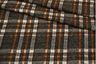 Трикотаж шерстяной в клетку коричневый NST -P70 09102138