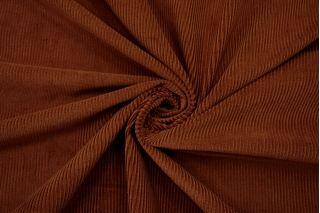 Вельвет хлопковый костюмный коричневый NST 09102139
