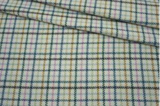 Пальтово-костюмная шерсть в клетку голубоватая NST-EE60 09102142