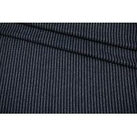 Костюмно-плательная шерсть в полоску темно-синяя-EE60 09102145