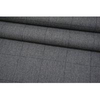 Твид костюмный серый в клетку NST-DD70 10102103