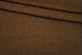 Твид костюмный коричневый в елочку и клетку NST-EE20 10102105