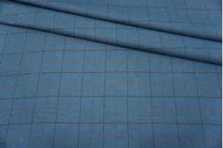 Твид костюмный серо-голубой в клетку NST-EE20 10102107