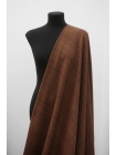 Твид костюмный в клетку терракотово-коричневый NST-DD70 10102111