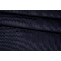 Вельвет хлопковый костюмный темно-синий на дублерине BRS-L50 12102101
