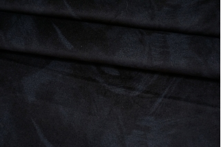 Велюр с принтом черно-синий BRS-K70 12102105