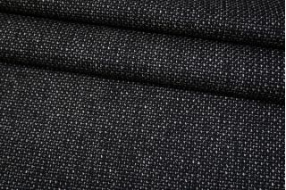 Рогожка шерстяная с шелком черно-белая BRS-CC20 12102123