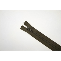 Молния спиральная брючная неразъёмная темно-зеленая 18 см YKK-G22 14102105