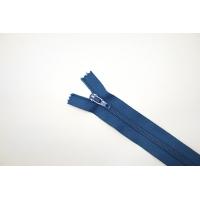 Молния спиральная брючная неразъёмная бледно-синяя 12 см YKK 14102106