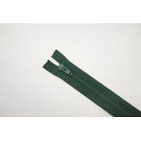 Молния спиральная брючная неразъёмная темно-зеленая 18 см-G22 14102116