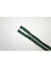 Молния декоративная неразъёмная зеленая 36 см Lampo 14102131