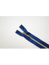 Молния декоративная атласная неразъёмная синяя 30 см Lampo 14102132