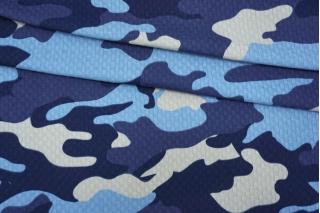 Трикотаж фактурный синий камуфляж IDT-R20 06042155