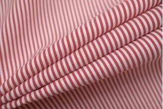 Хлопок рубашечный в полоску красно-белый NST-G5 14022130