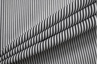 Хлопок рубашечный в полоску черно-белый NST-A70 14022131