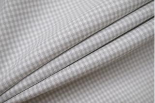 Хлопок рубашечно-плательный в клетку бело-серый BRS-G4 14022132