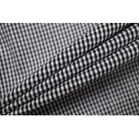 Хлопок рубашечно-плательный в клетку черно-белый BRS.H-G3 14022134