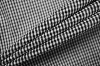 Хлопок рубашечно-плательный в клетку черно-белый BRS.H-B70 14022134