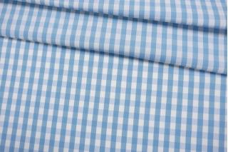 Хлопок рубашечный в клетку бело-голубой BRS-G4 14022140