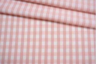 Хлопок рубашечный в клетку бело-розовый BRS.H-B60 14022141