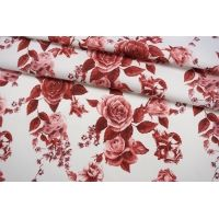 ОТРЕЗ 1,25 М Сатин плательный розы IDT-(41)- 25032103-1