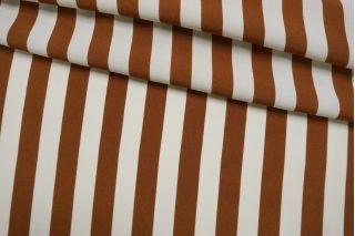 Креповая вискоза полоска коричневая IDT-H5 25032114