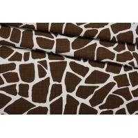 ОТРЕЗ 0,95 М Хлопок-рогожка костюмный жираф IDT-(42)- 25032117-1