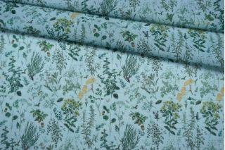 Батист растения на голубом фоне IDT.H-A40 25032121